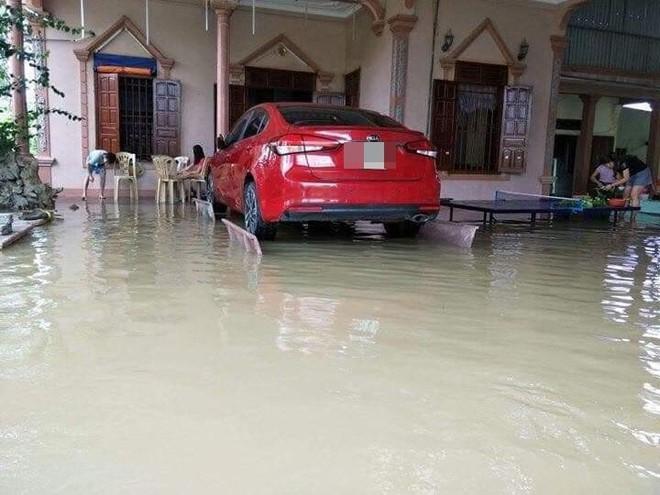Liệu sự như thần, một gia đình kê cả ô tô lên ghế đá trong ngày mưa lụt gây chú ý - ảnh 3