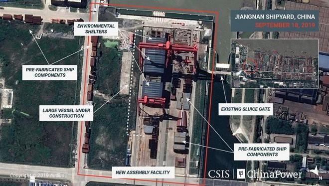 Ảnh vệ tinh tiết lộ xưởng đóng tàu sân bay Trung Quốc - ảnh 2