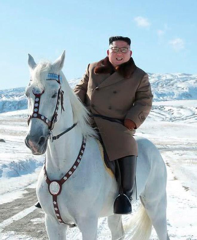 Ông Kim Jong-un oai phong cưỡi bạch mã trên đỉnh núi thiêng, báo Mỹ châm chọc: Bắt chước ông Putin! - ảnh 2