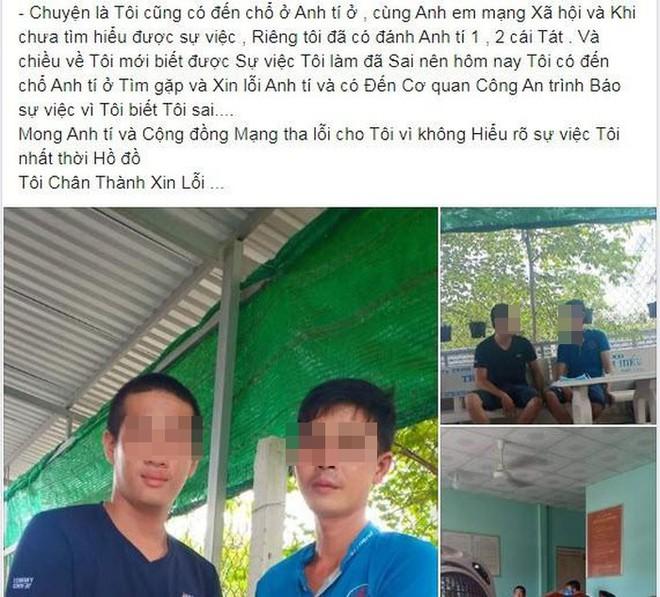 Thanh niên cầm đầu nhóm đánh ông bố bạo hành con trai đến xin lỗi, thú tội trên Facebook, công an vào cuộc - ảnh 1