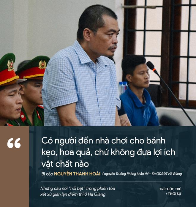 Cựu GĐ Sở Giáo dục Hà Giang nói không ăn nổi cơm và những phát ngôn đáng chú ý trong phiên xử gian lận điểm thi - Ảnh 7.