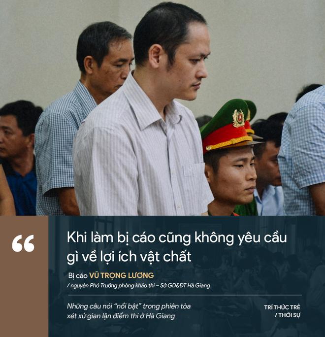 Cựu GĐ Sở Giáo dục Hà Giang nói không ăn nổi cơm và những phát ngôn đáng chú ý trong phiên xử gian lận điểm thi - Ảnh 9.
