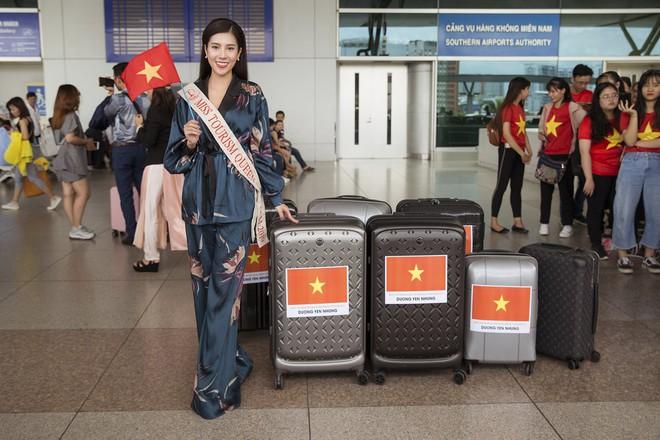 Dương Yến Nhung mang 120kg hành lý dự thi Hoa hậu du lịch thế giới - Ảnh 5.