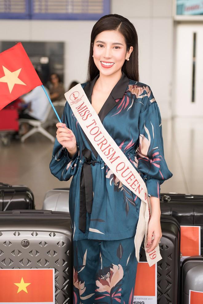 Dương Yến Nhung mang 120kg hành lý dự thi Hoa hậu du lịch thế giới - Ảnh 3.