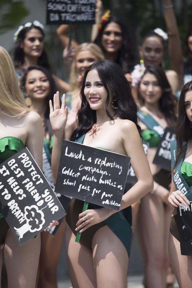 Hoàng Hạnh mặc bikini khoe thân hình bốc lửa tại Miss Earth 2019 - Ảnh 6.
