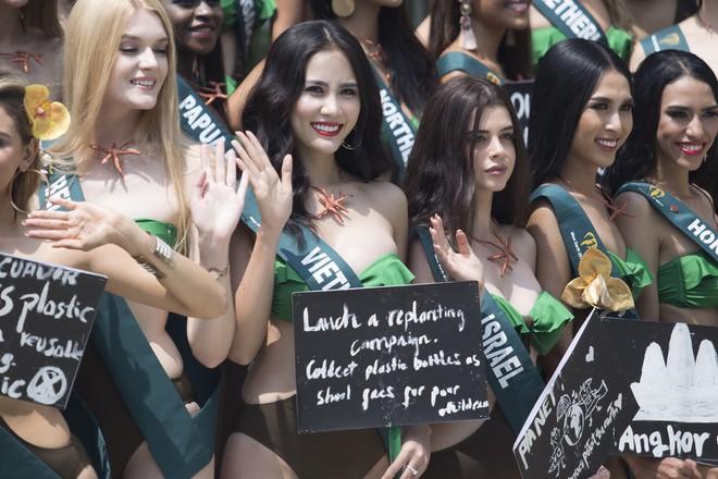 Hoàng Hạnh mặc bikini khoe thân hình bốc lửa tại Miss Earth 2019 - Ảnh 3.