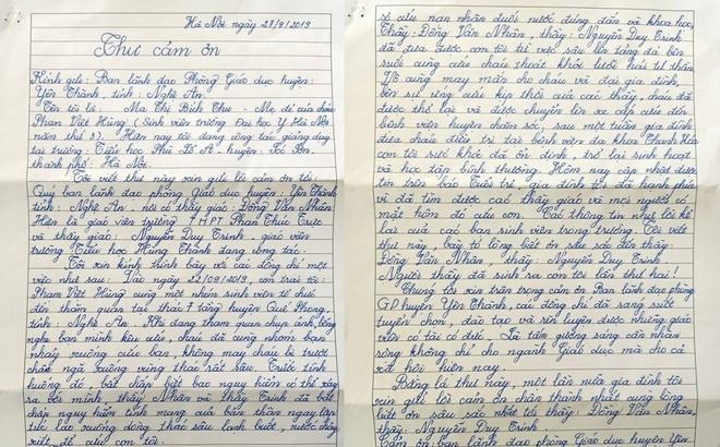 Tâm thư của người mẹ cảm ơn 2 thầy giáo cứu con trai thoát đuối nước
