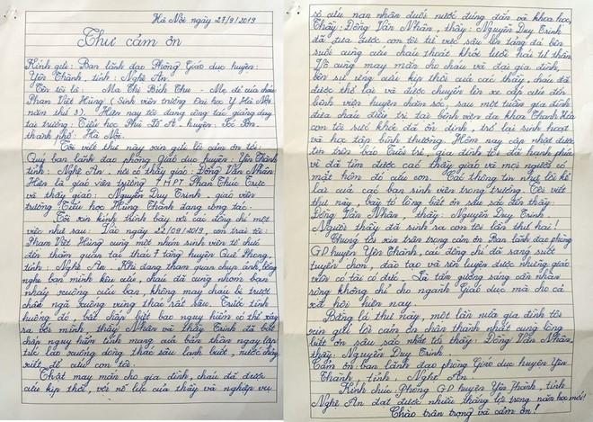 Tâm thư của người mẹ cảm ơn 2 thầy giáo cứu con trai thoát đuối nước - VTC News - Ảnh 1.