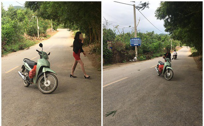 """Người phụ nữ """"vứt"""" xe giữa đường để... nghe điện thoại"""