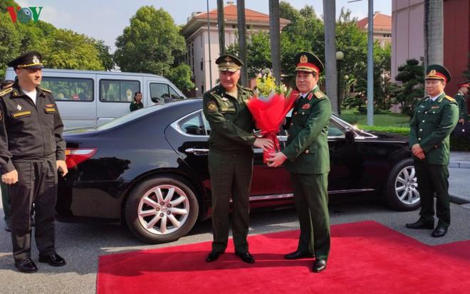 Đại tướng Lương Cường đón đoàn cấp cao Bộ Quốc phòng Liên bang Nga - ảnh 1