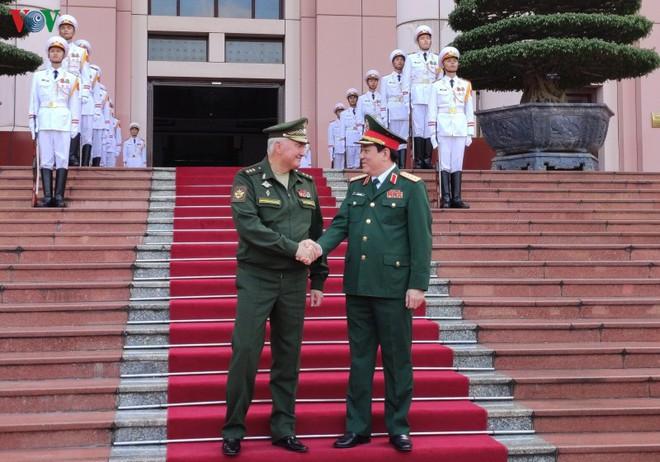Đại tướng Lương Cường đón đoàn cấp cao Bộ Quốc phòng Liên bang Nga - ảnh 2