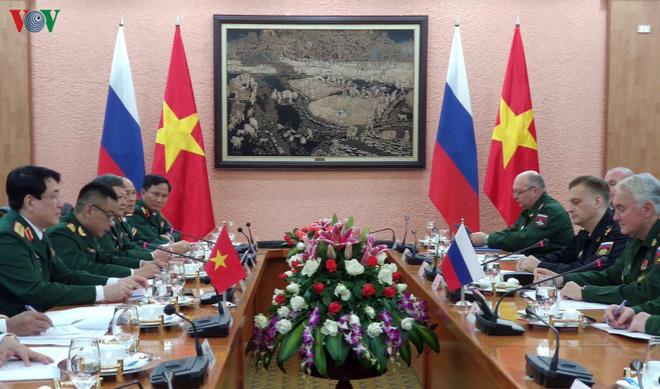 Đại tướng Lương Cường đón đoàn cấp cao Bộ Quốc phòng Liên bang Nga - ảnh 3