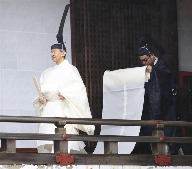 Những hình ảnh trong lễ đăng quang của Nhật hoàng Naruhito - Ảnh 1.