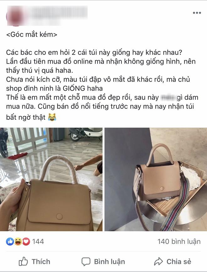 """Chiếc túi gây tranh cãi khắp MXH: Khách """"tố"""" hàng thật khác mẫu, chủ shop khẳng định giống 100% - ảnh 1"""