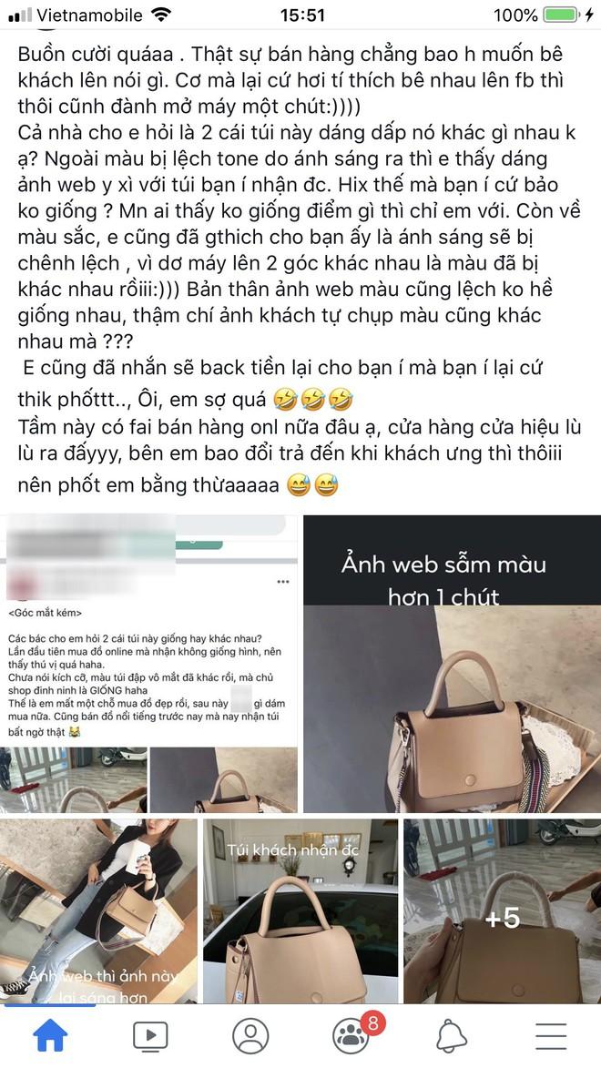 """Chiếc túi gây tranh cãi khắp MXH: Khách """"tố"""" hàng thật khác mẫu, chủ shop khẳng định giống 100% - ảnh 4"""