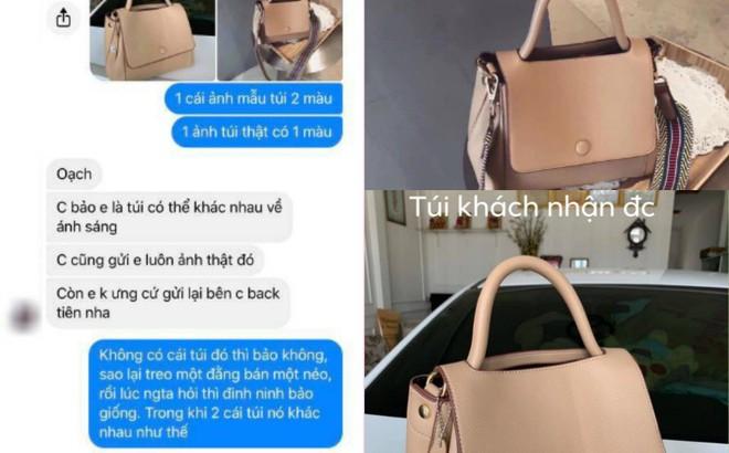 """Chiếc túi gây tranh cãi khắp MXH: Khách """"tố"""" hàng thật khác mẫu, chủ shop khẳng định giống 100%"""