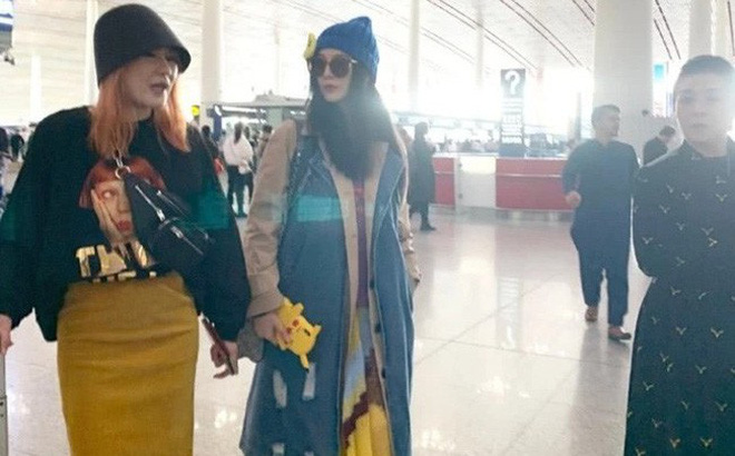 """Phạm Băng Băng xuất hiện cùng mẹ tại sân bay nhưng bất ngờ lại bị người hâm mộ """"bơ đẹp"""""""