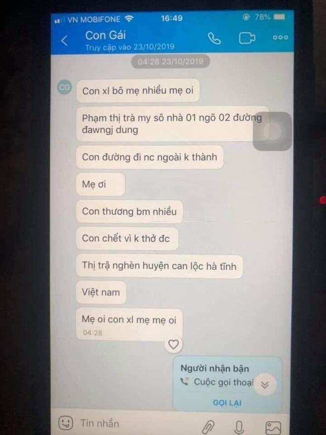 Gia đình cô gái Việt nghi tử vong trong container ở Anh: Đọc tin nhắn con mà quặn lòng - Ảnh 5.