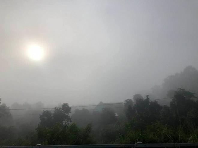 Sương mù dày đặc xuất hiện trên cao tốc TP.HCM - Long Thành - Dầu Giây - Ảnh 2.