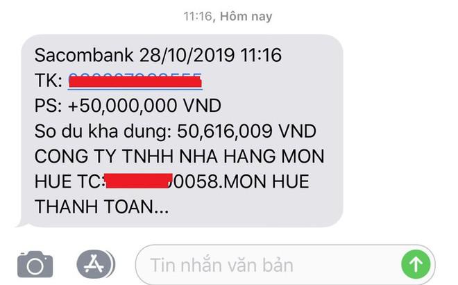 Nợ tiền tỷ, Món Huế bất ngờ chi vài chục triệu trả cho nhà cung cấp - Ảnh 1.