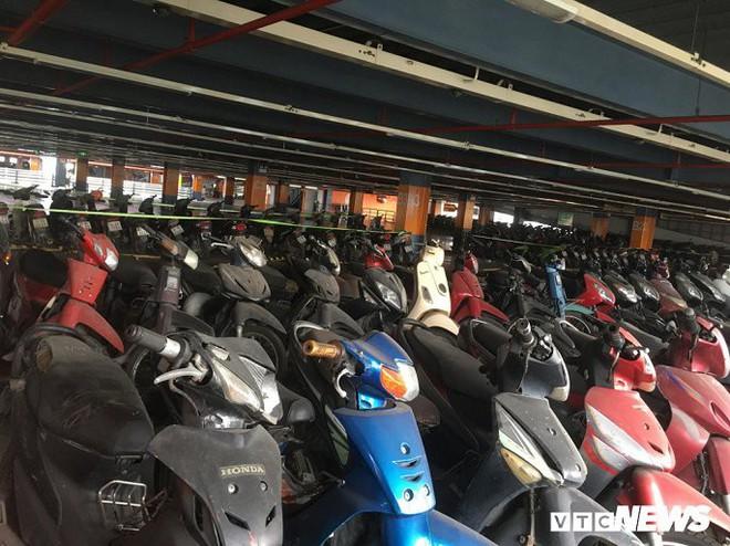Ảnh: Hàng trăm xe máy bị bỏ rơi, thành cục nợ ở sân bay Tân Sơn Nhất - Ảnh 2.