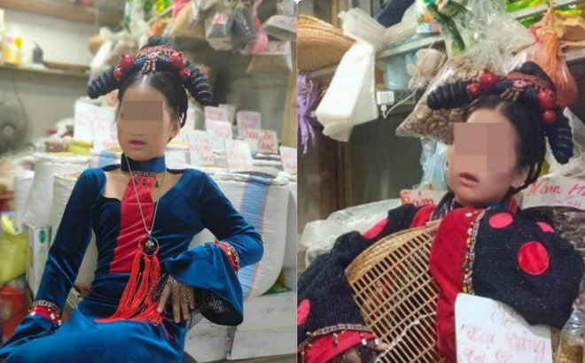 Người phụ nữ hóa trang cực chất để... bán hàng ở chợ: Khách tò mò tới chỉ chụp ảnh