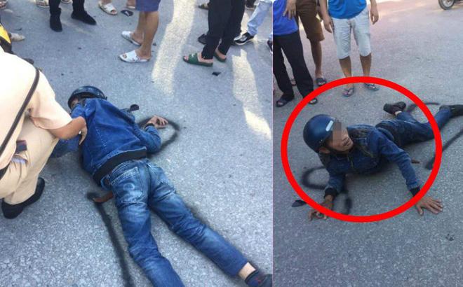 Người đàn ông chạy xe máy đối đầu xe tải, nằm bất động, ai cũng nghĩ đã tử vong nhưng phút cuối mới kinh ngạc