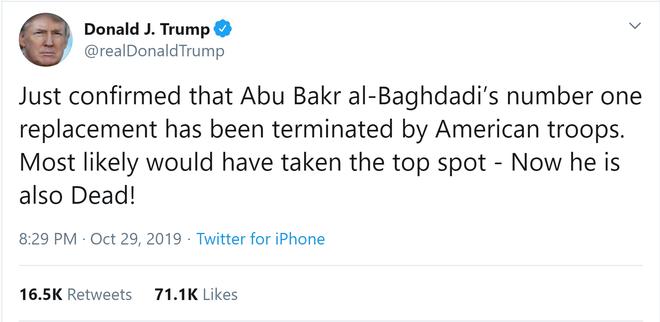 Người kế nhiệm tiềm năng của cựu thủ lĩnh IS Baghdadi chưa kịp lộ diện đã bị Mỹ diệt gọn? - Ảnh 1.