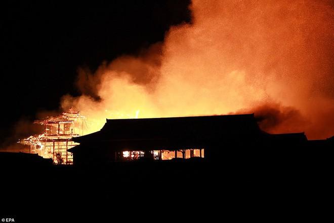 [ẢNH, VIDEO] Toàn bộ di tích 600 tuổi bị biển lửa kinh hoàng nuốt chửng, người dân Nhật choáng váng và đau xót - ảnh 3