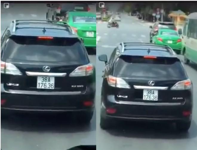 Nghệ An: Xe sang Lexus ngáng đầu xe cứu hỏa cả một đoạn đường dài gây bức xúc - Ảnh 2.