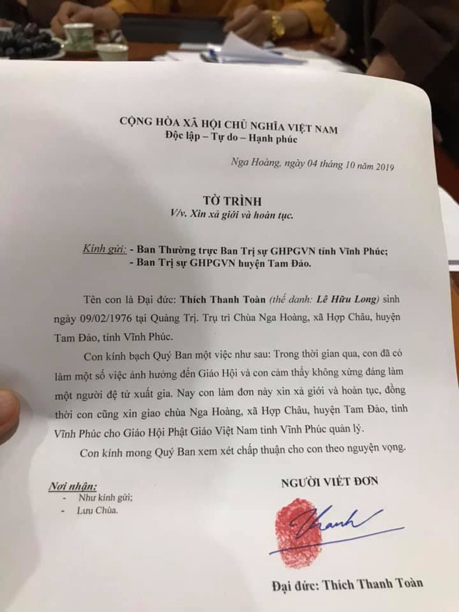 Sư Toàn xin hoàn tục sau nghi vấn gạ tình nữ phóng viên - Ảnh 3.