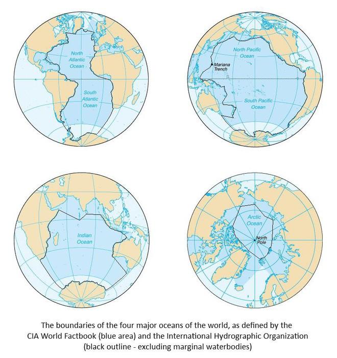 Các đại dương trên thế giới giao nhau ở đâu? - Ảnh 1.