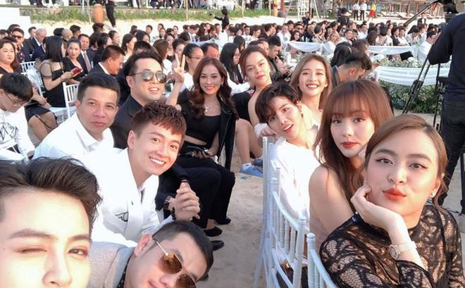 Gil Lê và Hoàng Thùy Linh không rời nhau nửa bước trong suốt lễ cưới của Đông Nhi - Ông Cao Thắng