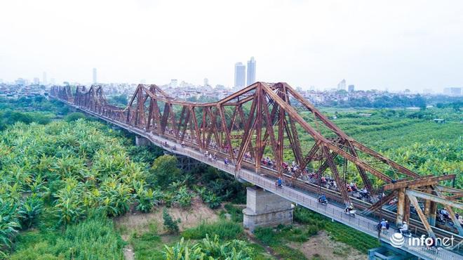 7 cây cầu huyết mạch ở Thủ đô - những dải lụa nhìn từ trên cao trong nắng - Ảnh 1.