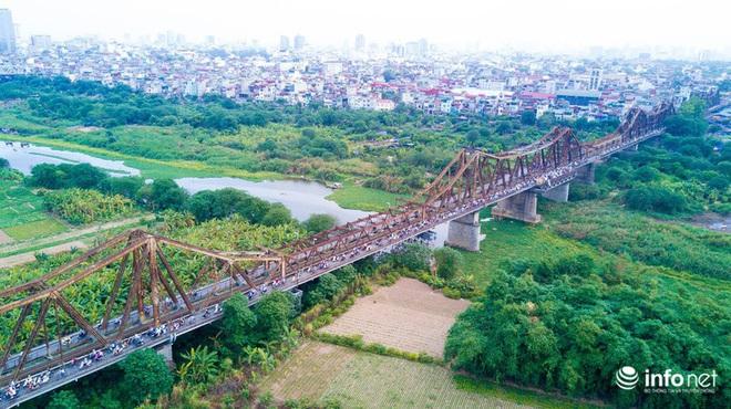 7 cây cầu huyết mạch ở Thủ đô - những dải lụa nhìn từ trên cao trong nắng - Ảnh 2.