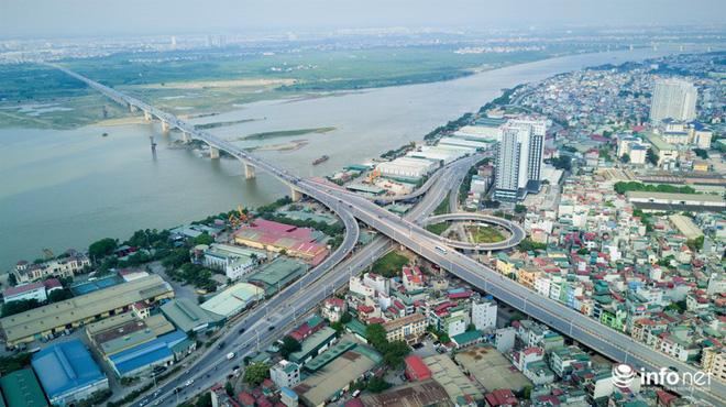 7 cây cầu huyết mạch ở Thủ đô - những dải lụa nhìn từ trên cao trong nắng - Ảnh 14.