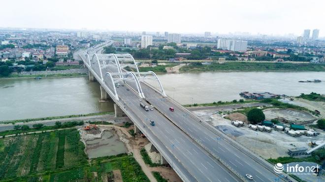 7 cây cầu huyết mạch ở Thủ đô - những dải lụa nhìn từ trên cao trong nắng - Ảnh 7.