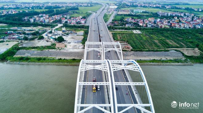 7 cây cầu huyết mạch ở Thủ đô - những dải lụa nhìn từ trên cao trong nắng - Ảnh 9.