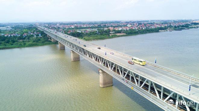 7 cây cầu huyết mạch ở Thủ đô - những dải lụa nhìn từ trên cao trong nắng - Ảnh 10.