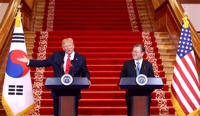 Mỹ-Hàn đột ngột ngừng đàm phán tăng 500% phí đồn trú quân Mỹ chỉ sau 1 tiếng họp - Ảnh 1.