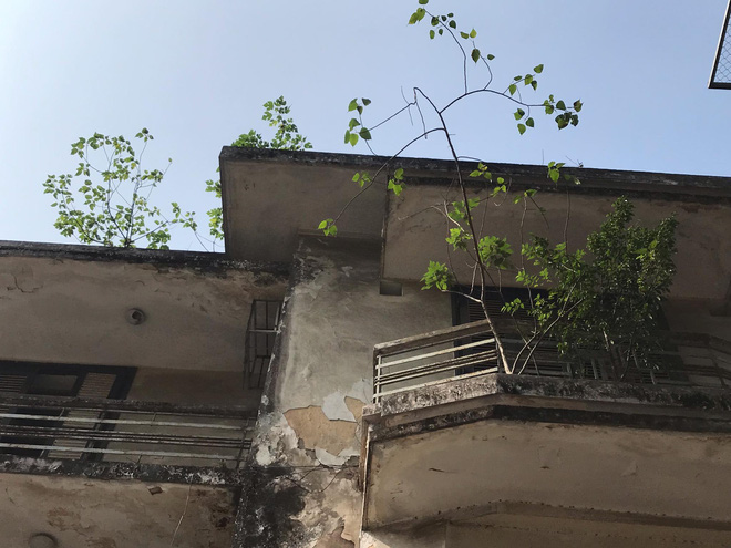 Bên trong căn biệt thự kiểu Pháp hoang tàn trên đất vàng Hà Nội trở thành nơi gửi xe - Ảnh 6.