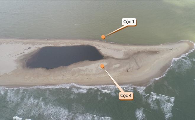 Cồn cát tại Cửa Đại, TP. Hội An đang biến động phức tạp