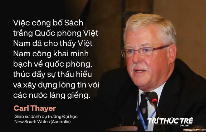 """GS Thayer: Sách trắng Quốc phòng thể hiện rõ quan điểm """"hòa bình"""" và """"tự vệ"""" của Việt Nam - Ảnh 1."""