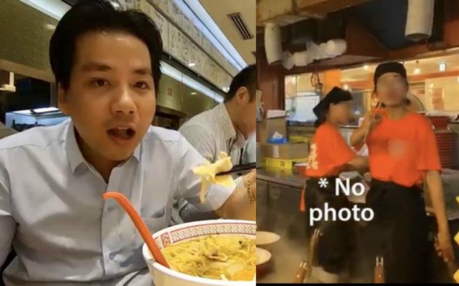 """Khoa Pug than phiền vì nữ phục vụ người Việt """"dùng đũa chỉ mặt"""" trong quán mỳ ở Nhật gây tranh cãi"""
