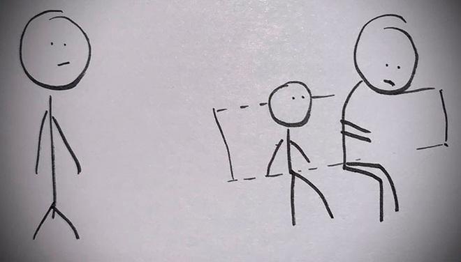 Con trai khó chịu vì ngồi cảnh người lạ có mùi, cha vẽ tranh dạy cách ứng xử và phản ứng của cậu bé - Ảnh 6.