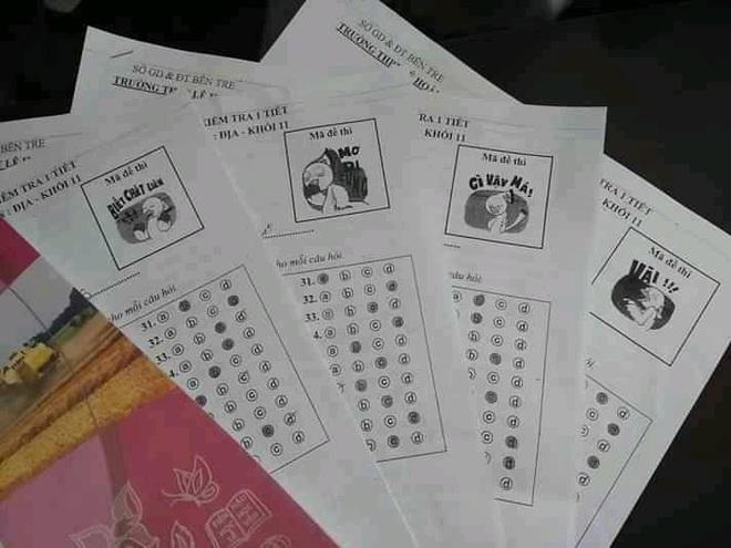 Thầy cô cao tay in ngay mã đề bá đạo, học sinh muốn hỏi nhau cũng phải bó tay - ảnh 12