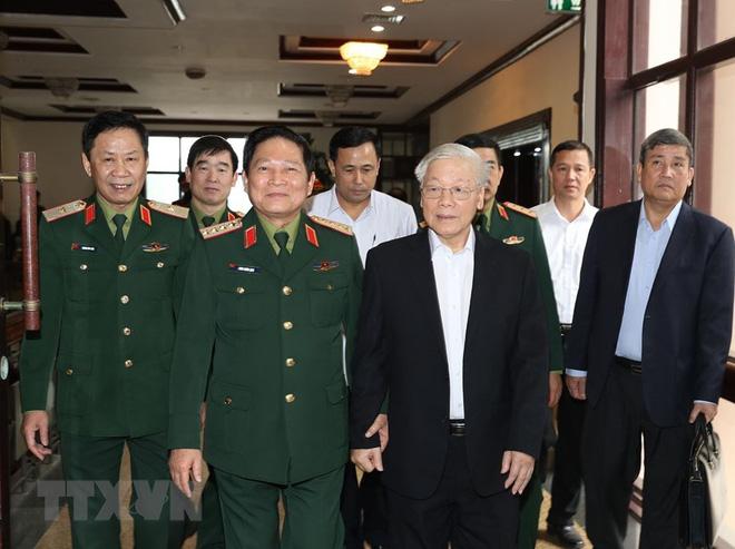 Tổng Bí thư chủ trì Hội nghị Tổng kết công tác quân sự, quốc phòng - Ảnh 2.