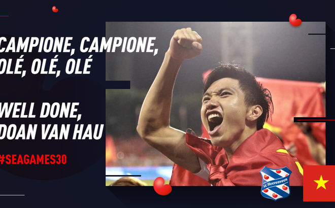 SC Heerenveen phấn khích với chiến công của Đoàn Văn Hậu trong màu áo U22 Việt Nam