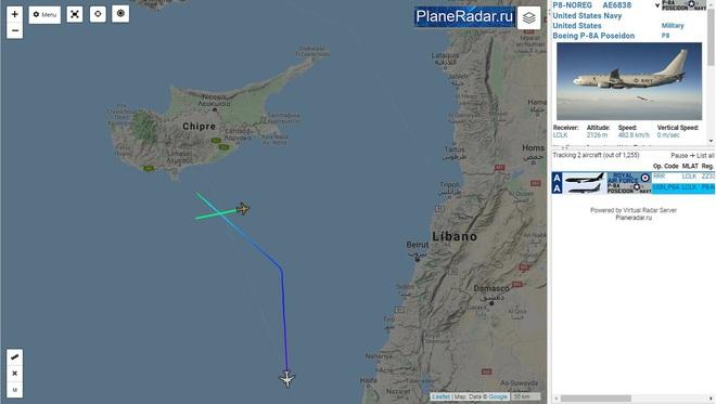 Sự thực vụ tàu ngầm Nga bị máy bay P-8A Poseidon Mỹ truy sát ngoài khơi Syria - ảnh 3