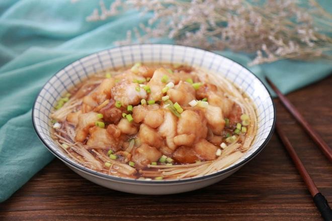Bữa tối không dầu mỡ với món cá hấp nấm đậm đà ngọt thơm ngon khó cưỡng - Ảnh 5.